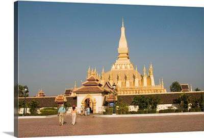 Pha That Luang, Vientiane, Laos, Indochina