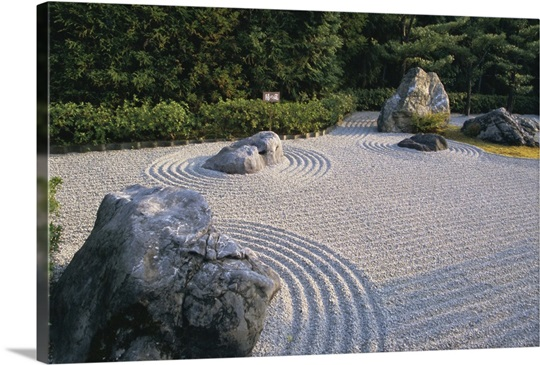 Raked stone garden taizo in temple kyoto japan asia wall art raked stone garden taizo in temple kyoto japan asia workwithnaturefo