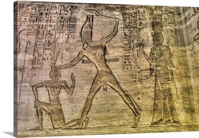Ramses II, Reliefs, Temple Of Hathor And Nefertari, Abu Simbel, Nubia, Egypt, Africa