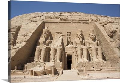 Ramses II Temple, Abu Simbel, Nubia, Egypt, North Africa, Africa