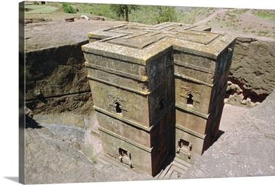Rock cut Church of St. Georgel,  Lalibela, Wollo region, Ethiopia