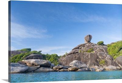 Rock formations of Ko Similan Beach, Phuket Island, Phuket, Thailand