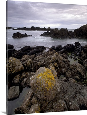 Rocky coast, Antrim coast, County Antrim, Ulster, Northern Ireland, UK