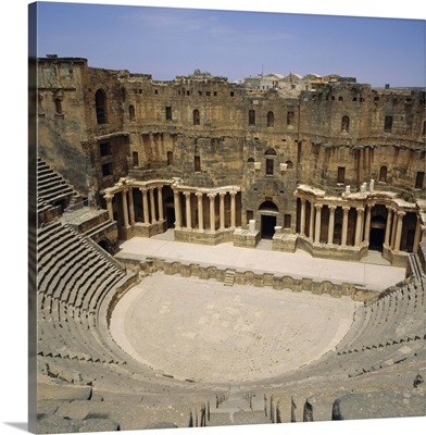 Roman Amphitheatre, 2nd century AD, Bosra, Syria, Middle East