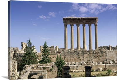 Roman Temple of Jupiter, Baalbek archaeological site, Bekaa Valley, Lebanon