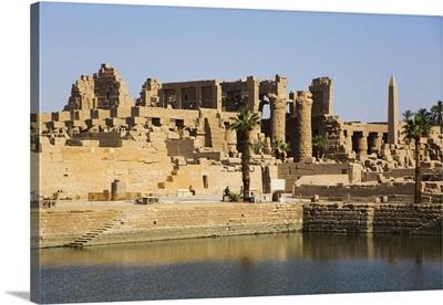 Sacred Lake, Karnak Temple Complex, Luxor, Thebes, Egypt