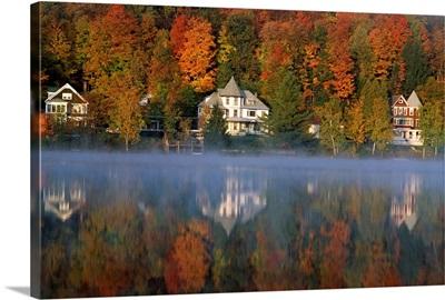 Saranac Lake, Adirondack area, New York State, USA