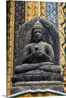 Seated Buddha statue, Wat Phra Kaeo Complex (Grand Palace Complex), Bangkok, Thailand