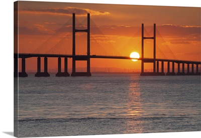 Second Severn Crossing Bridge Over The River Severn, Southeast Wales, Wales
