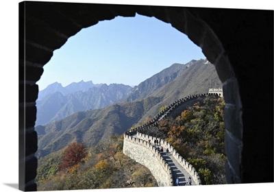Sentry Post Window, Great Wall Of China, Built 1368, Mutianyu Section, Beijing, China