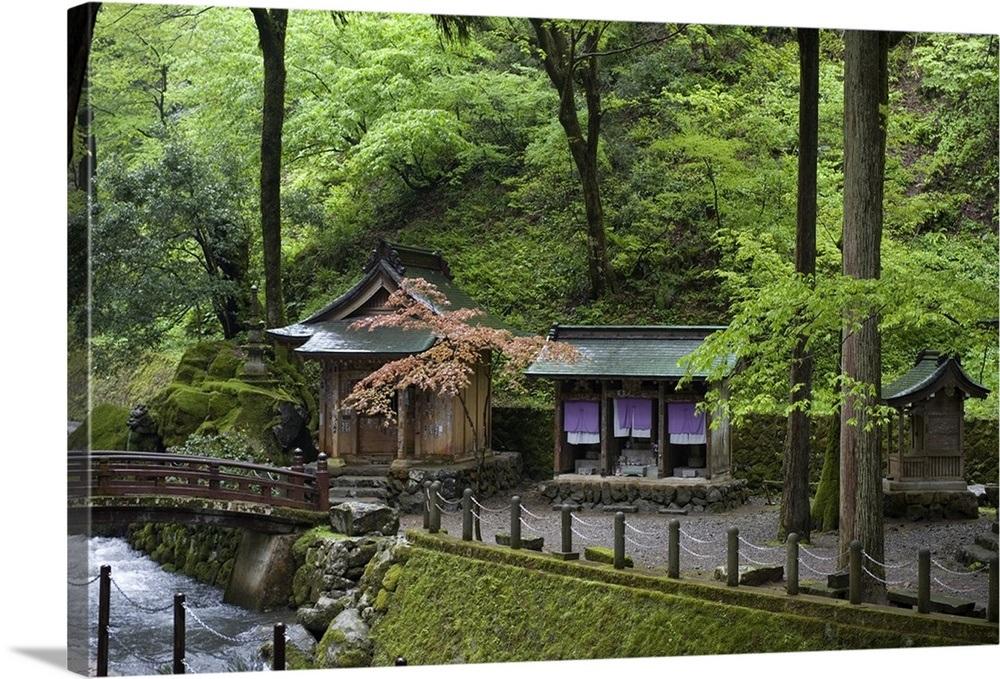 Shrine at Eiheiji Temple, headquarters of Soto sect of Zen Buddhism, Fukui,  Japan