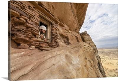 Small Window Carved Into Rocks, Abuna Yemata Guh Church, Gheralta Mountains, Ethiopia