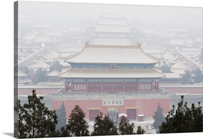 Snow covered Forbidden City Palace Museum, Beijing, China