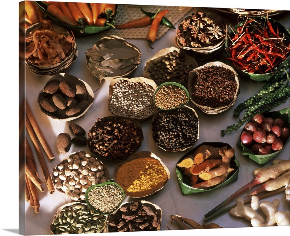 Spices used in Thai, Indian, Indonesian and Malay food, Thailand