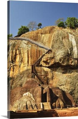 Stairs leading to top of Sigiriya (Lion Rock), Sri Lanka