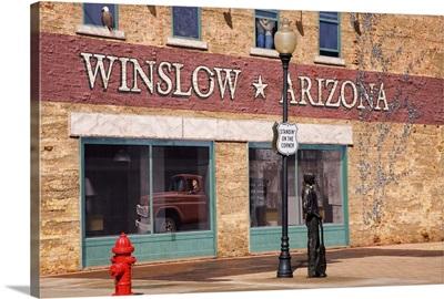 Standing on the Corner Park, Historic Route 66, Winslow, Arizona