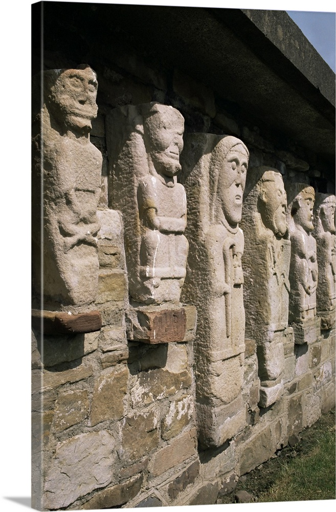 Stone carvings white island county fermanagh northern ireland