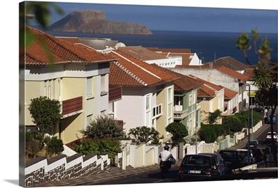 Street in Angra do Heroismo, Terceira, Azores, Portugal, Atlantic, Europe