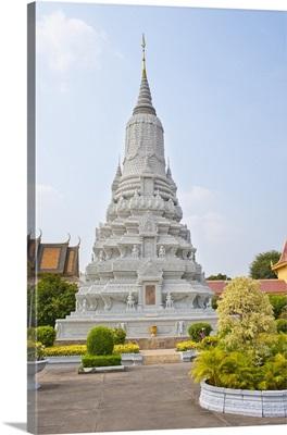 Stupa of King Norodom at The Silver Pagoda, The Royal Palace, Phnom Penh, Cambodia