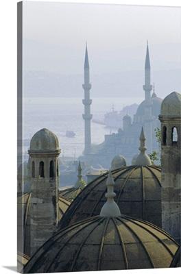 Suleymaniye complex overlooking the Bosphorus, Istanbul, Turkey