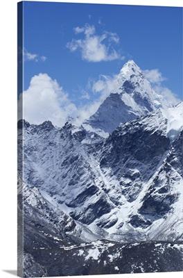 Summit of Ama Dablam from Kala Patthar, Nepal, Himalayas