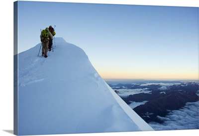 Summit ridge of Mont Blanc, Chamonix, French Alps, France