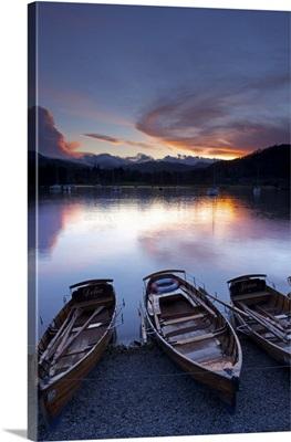 Sunset, Ambleside, Lake Windermere, Lake District National Park, Cumbria, England