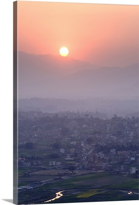 Sunset over Kathmandu, Nepal, Asia
