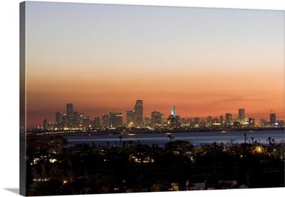 Sunset over Miami, Florida