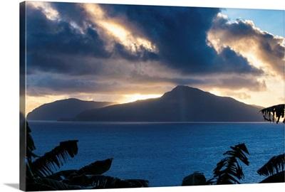 Sunset over Ofu Island, Manua Island group, American Samoa, South Pacific