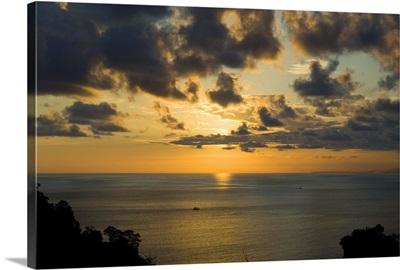 Sunset over Pacific near Manuel Antonio, Costa Rica