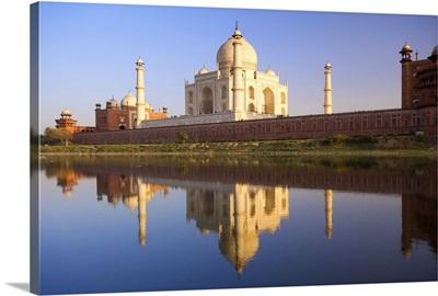 Taj Mahal, reflected in the Yamuna River, Agra, Uttar Pradesh, India