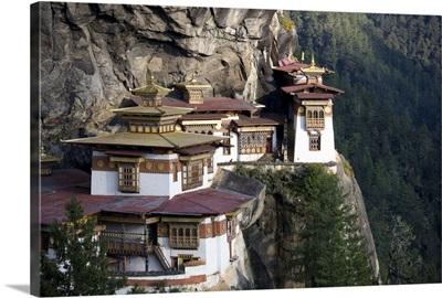 Taktshang Goemba (Tiger's Nest Monastery), Paro Valley, Bhutan, Asia