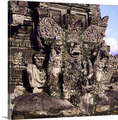Temple carvings, Ubud, Bali, Indonesia, Southeast Asia, Asia
