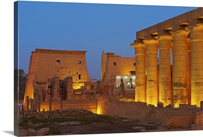 Temple of Luxor, Thebes, Egypt, North Africa, Africa