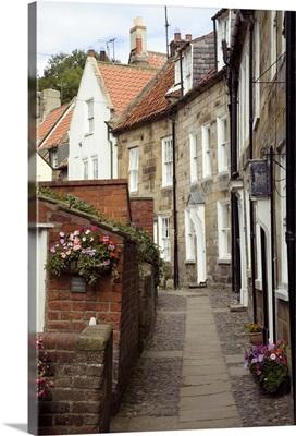 Terraced houses in Chapel Street, Robin Hood's Bay, Yorkshire, England