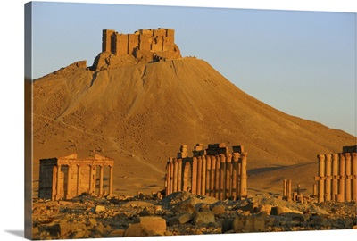 The archaeological site and Arab castle, Palmyra, Syria
