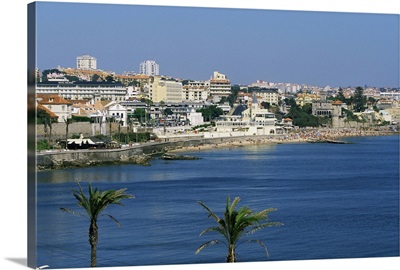 The beach at Estoril, Portugal, Europe