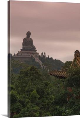 The Big Buddha statue, Po Lin Monastery, Lantau Island, Hong Kong, China