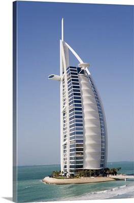 The Burj Al Arab, the world's first seven star hotel, Dubai, United Arab Emirates