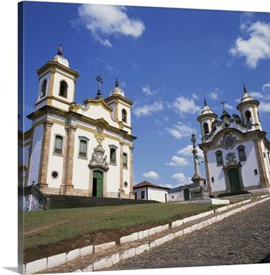 The churches of Sao Francisco, Minas Gerais state, Brazil