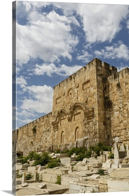 The Golden Gate on the eastern wall of the Temple Mount, Jerusalem, Israel, Middle East