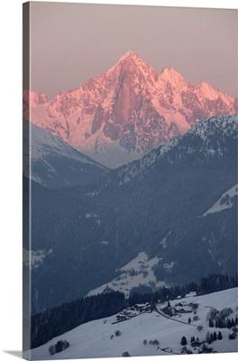 The Green Needle, Mont Blanc mountain range, Megeve, Haute-Savoie, French Alps, France