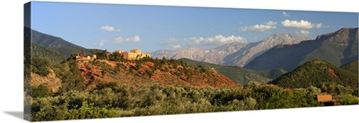 The hotel Kasbah Bab Ourika, Ourika Valley, Atlas Mountains, Morocco, North Africa