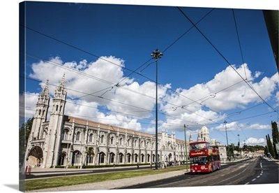 The Jeronimos Monastery near the Teju river in the parish of Belem, Lisbon, Portugal