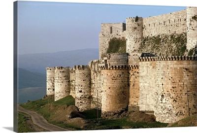 The Krak des Chevaliers, Crusader castle, Syria, Middle East