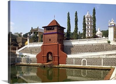 The Mangesh Temple, Priol, Goa, India, Asia