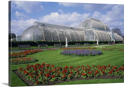 The Palm House, the Royal Botanic Gardens at Kew, London, England