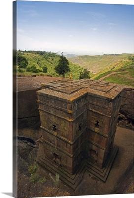 The Sunken Rock Hewn church of Bet Giyorgis, Lalibela, Ethiopia, Africa