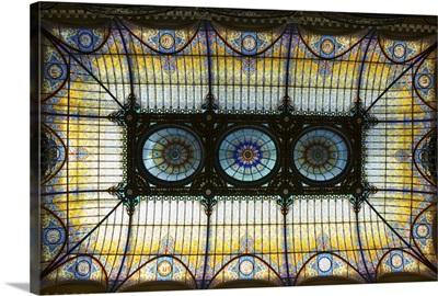 Tiffany ceiling in Gran Hotel, Zocalo, Mexico City, Mexico